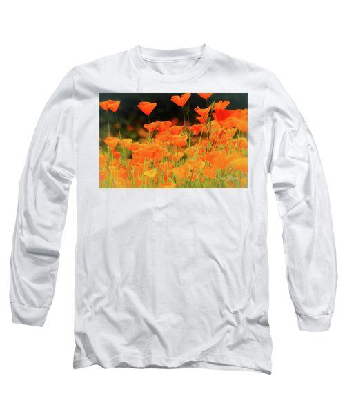 Glowing Poppies Long Sleeve T-Shirt