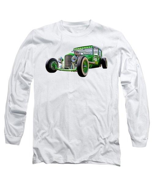 Go Faster Green - Vintage Hot Rod Long Sleeve T-Shirt