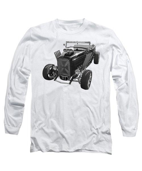 Go Hot Rod In Black And White Long Sleeve T-Shirt