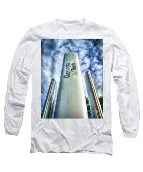 Long Sleeve T-Shirt featuring the photograph Go Tech 2 Georgia Tech Art by Reid Callaway