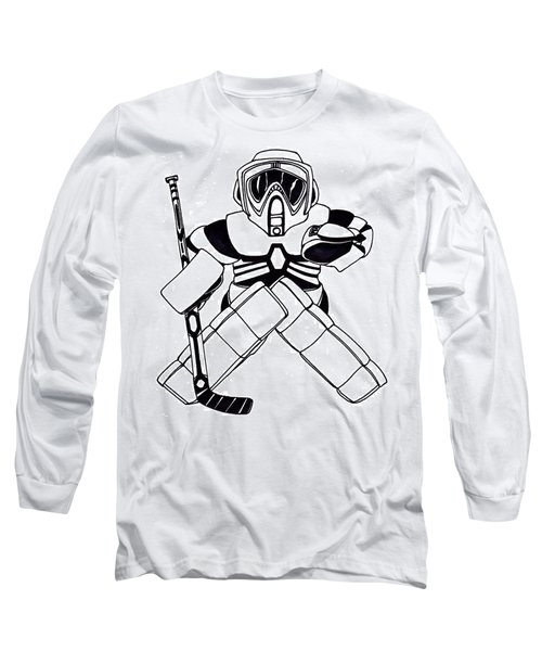 65fa7b90b Long Sleeve T-Shirt featuring the drawing Goalie Speeder by Hockey Goalie