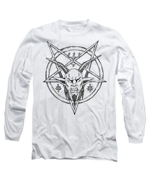 Goatlord Logo Long Sleeve T-Shirt by Alaric Barca