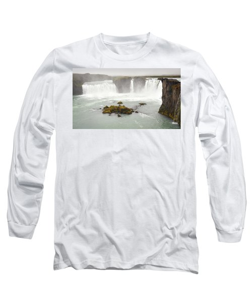 Godafoss Long Sleeve T-Shirt by Joe Bonita