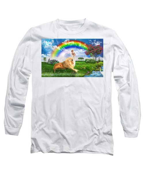 Long Sleeve T-Shirt featuring the digital art God's Perfect Promise  by Dolores Develde