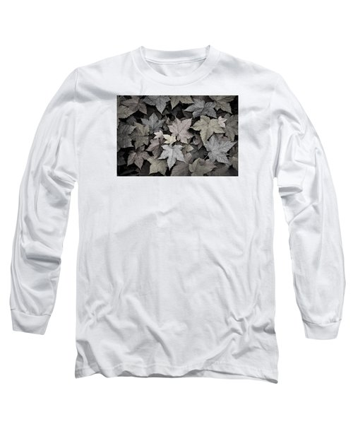 Gold Copper And Silver Leaves 1 Long Sleeve T-Shirt