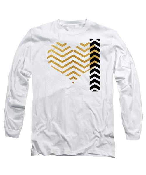 Gold Heart Long Sleeve T-Shirt