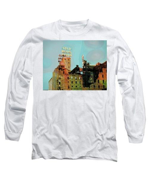 Long Sleeve T-Shirt featuring the photograph Gold Medal Flour Pop Art by Susan Stone