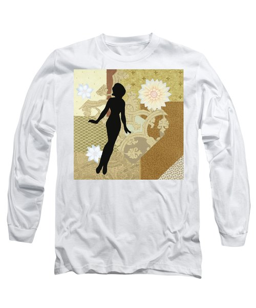 Gold Paper Doll Long Sleeve T-Shirt
