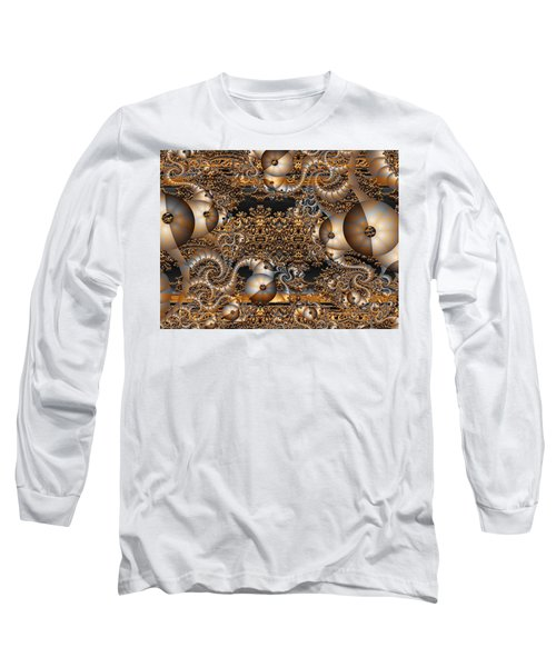 Long Sleeve T-Shirt featuring the digital art Gold Rush by Robert Orinski