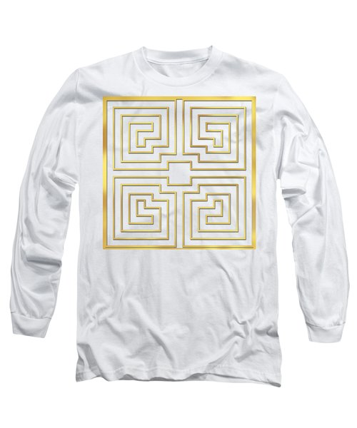 Gold Stripes Transparent Long Sleeve T-Shirt