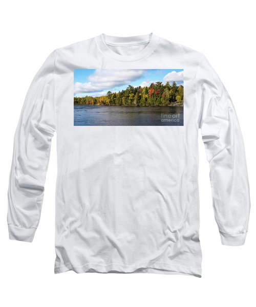 Golden Autum Day Long Sleeve T-Shirt by Sandy Molinaro