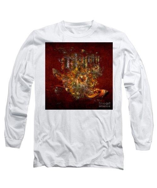 Long Sleeve T-Shirt featuring the digital art Golden Fish In The Lake by Alexa Szlavics