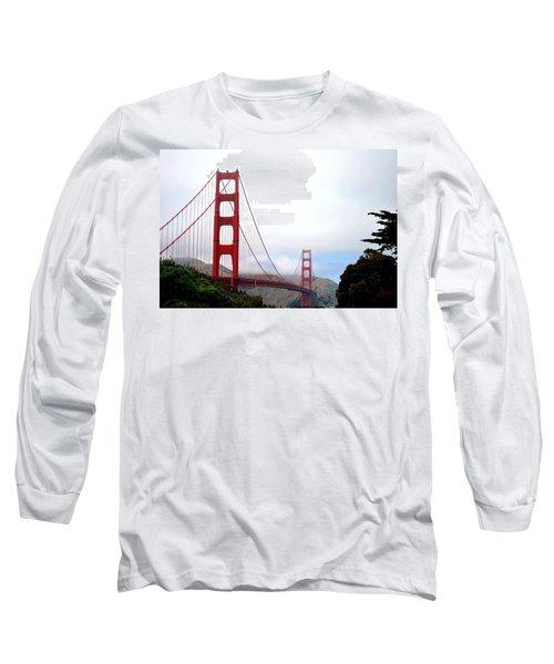 Golden Gate Bridge Full View Long Sleeve T-Shirt by Matt Harang