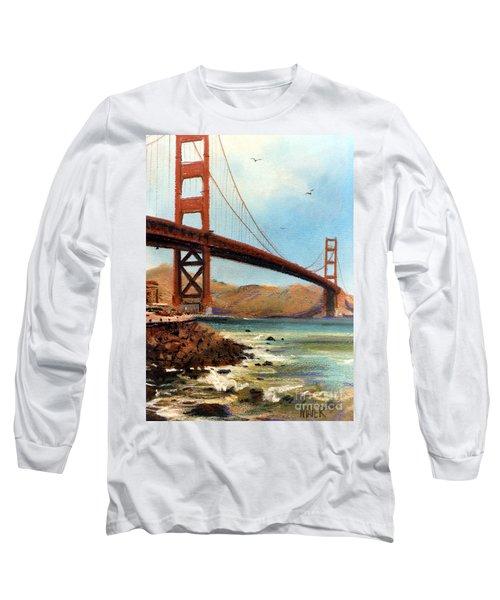 Golden Gate Bridge Looking North Long Sleeve T-Shirt by Donald Maier