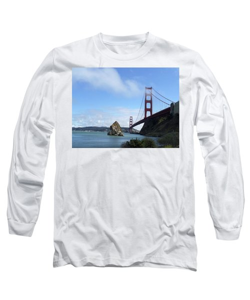 Golden Gate Bridge Long Sleeve T-Shirt by Sumoflam Photography