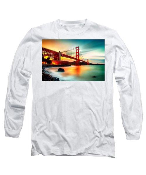 Golden Gateway Long Sleeve T-Shirt by Az Jackson