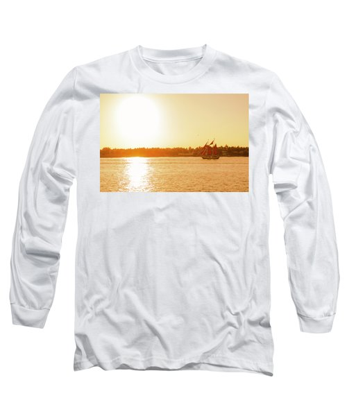 Golden Hour Sailing Ship Long Sleeve T-Shirt