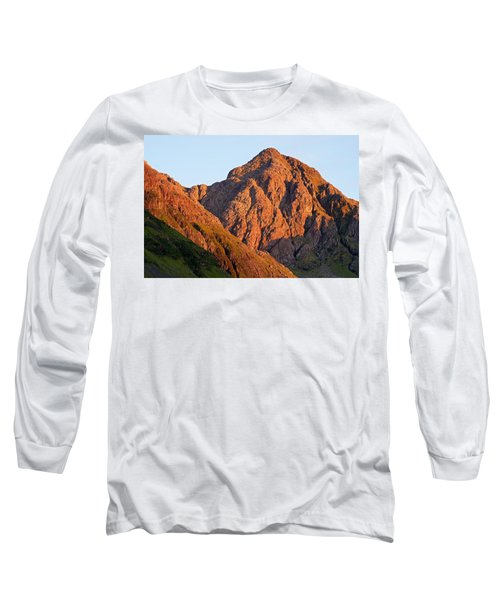 Golden Light Hits Bidean Nam Bian Long Sleeve T-Shirt by Stephen Taylor
