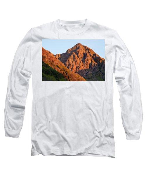 Golden Light Hits Bidean Nam Bian Long Sleeve T-Shirt