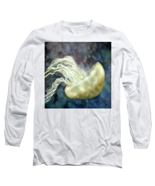 Golden Light Jellyfish Long Sleeve T-Shirt