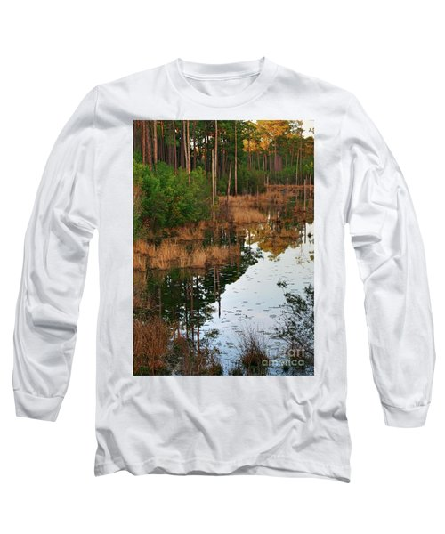 Long Sleeve T-Shirt featuring the photograph Golden Pond by Lori Mellen-Pagliaro