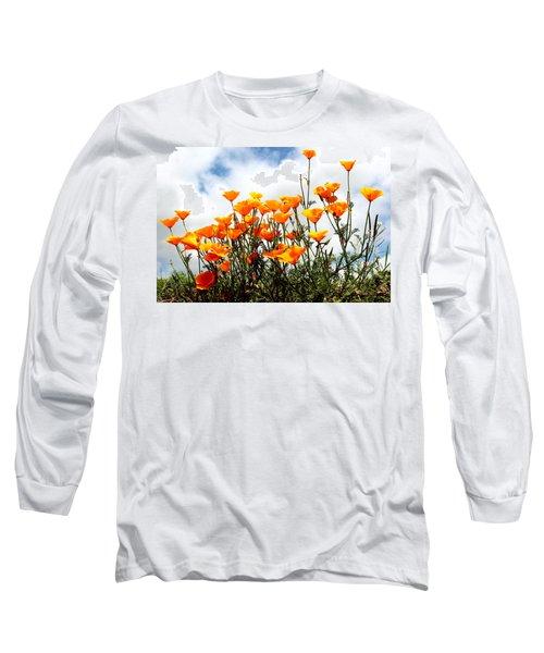 Golden Poppies Long Sleeve T-Shirt