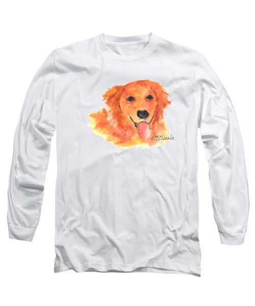 Golden Retriever Long Sleeve T-Shirt by Kathleen McElwaine