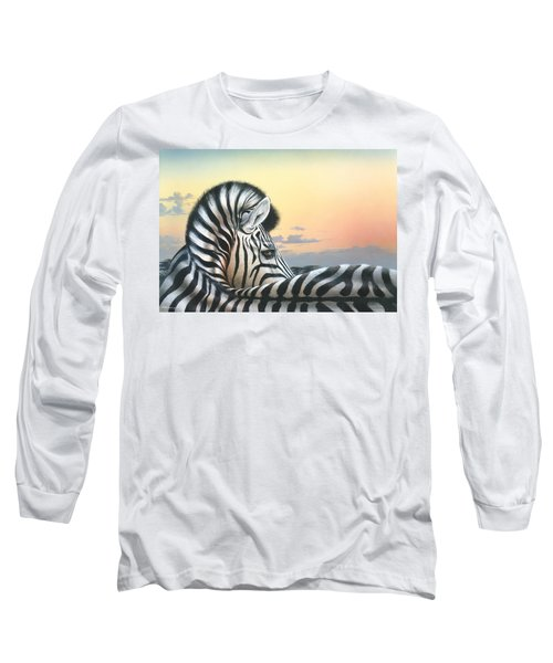 Long Sleeve T-Shirt featuring the painting Golden Sky by Mike Brown