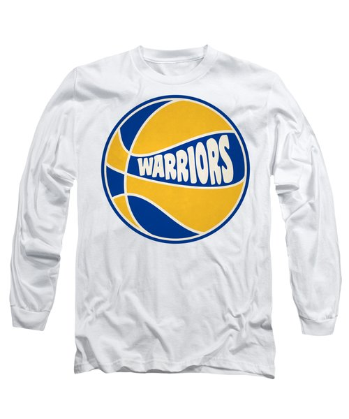 Golden State Warriors Retro Shirt Long Sleeve T-Shirt by Joe Hamilton