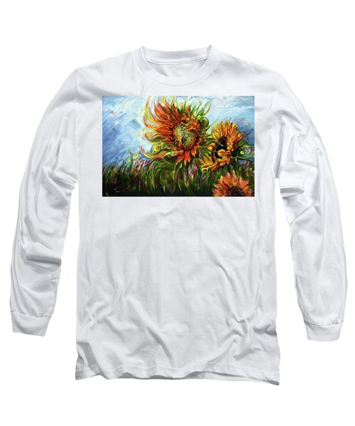 Golden Sunflowers - Harsh Malik Long Sleeve T-Shirt
