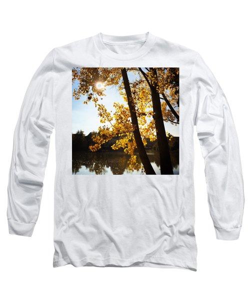 Golden Trees In Autumn Sindelfingen Germany Long Sleeve T-Shirt
