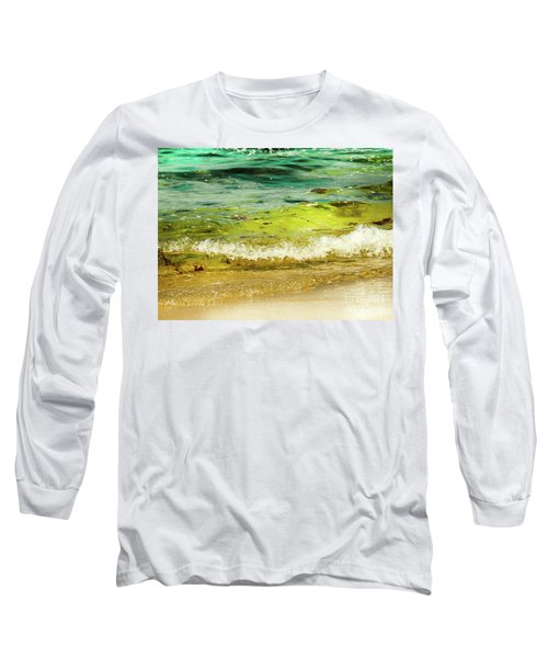 Golden Waves At Pacific Grove California Near Lover's Point Long Sleeve T-Shirt