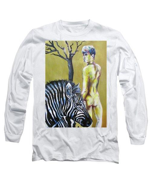 Golden Zebra High Noon Long Sleeve T-Shirt