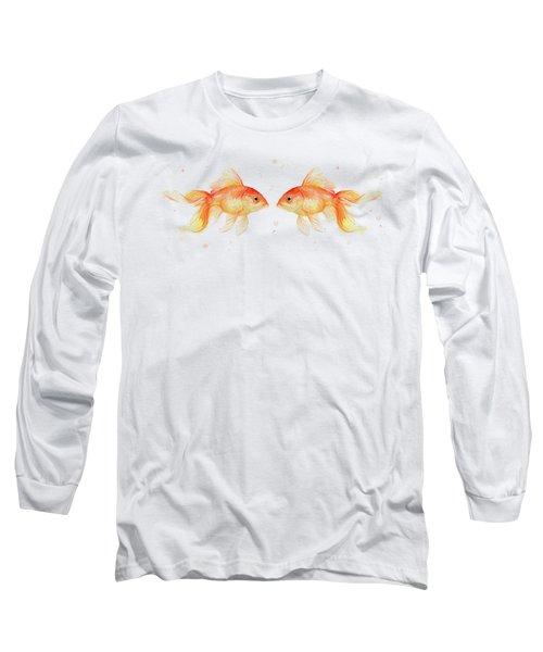 Goldfish Love Watercolor Long Sleeve T-Shirt