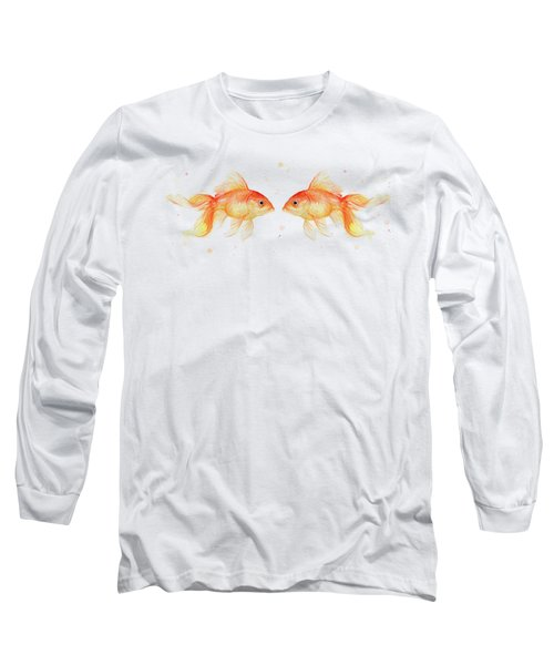 Goldfish Love Watercolor Long Sleeve T-Shirt