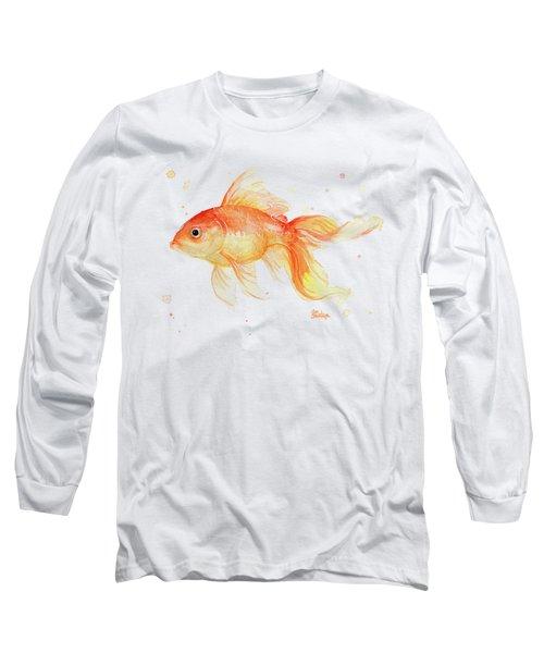 Goldfish Painting Watercolor Long Sleeve T-Shirt
