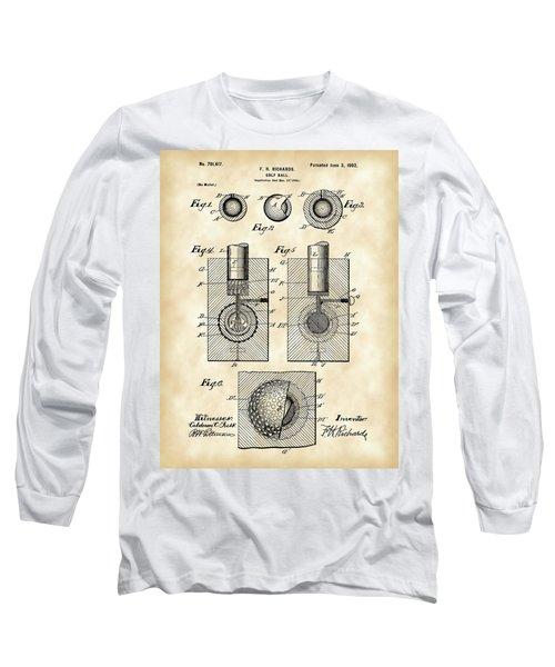 Golf Ball Patent 1902 - Vintage Long Sleeve T-Shirt