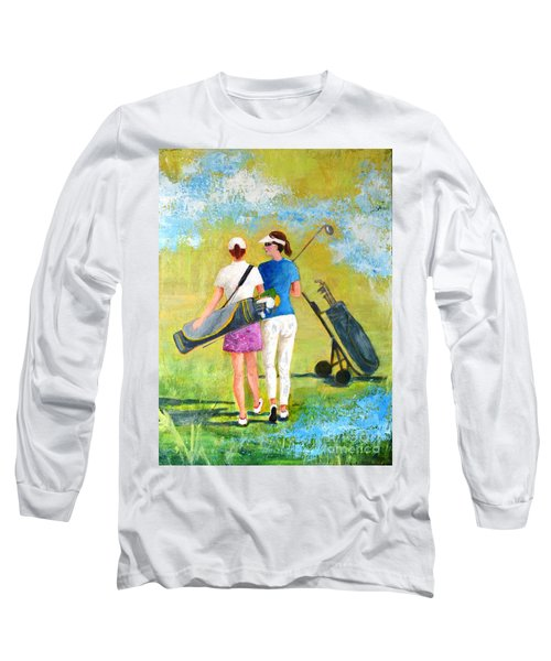 Golf Buddies #1 Long Sleeve T-Shirt by Betty M M Wong