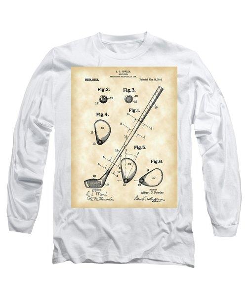 Golf Club Patent 1909 - Vintage Long Sleeve T-Shirt