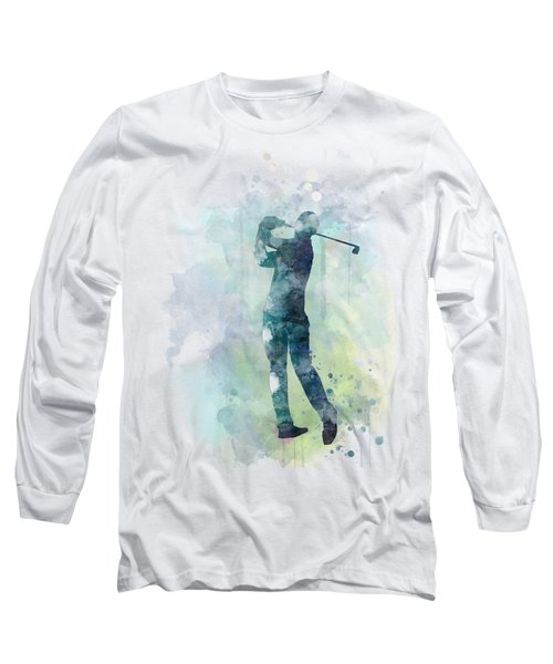 Golf Player  Long Sleeve T-Shirt by Marlene Watson