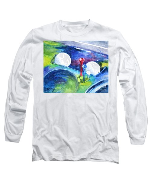 Golf Series - Back Safely Long Sleeve T-Shirt by Betty M M Wong