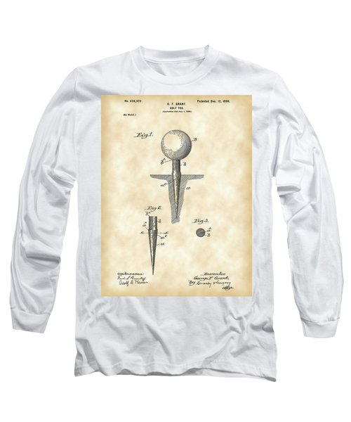 Golf Tee Patent 1899 - Vintage Long Sleeve T-Shirt by Stephen Younts
