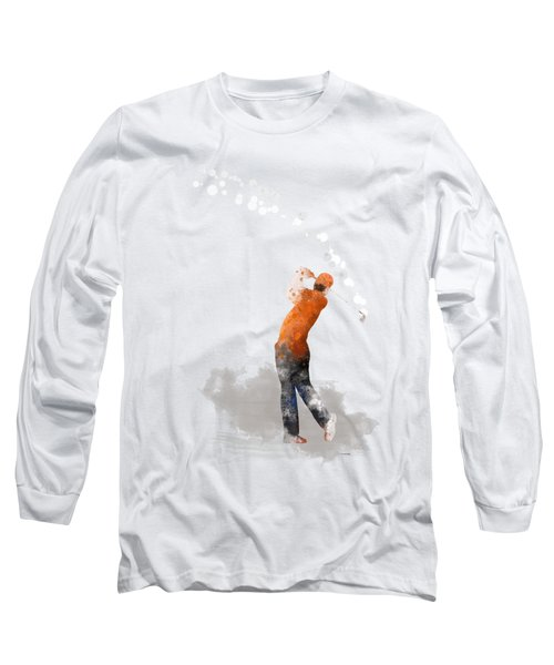 Golfer 1 Long Sleeve T-Shirt by Marlene Watson