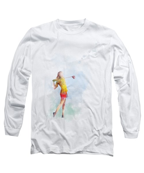 Golfer Long Sleeve T-Shirt by Marlene Watson