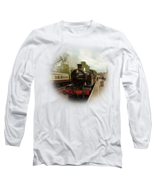 Goliath The Engine And Anna On Transparent Background Long Sleeve T-Shirt by Terri Waters