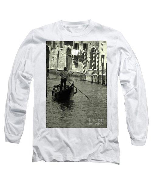 Gondolier In Venice   Long Sleeve T-Shirt