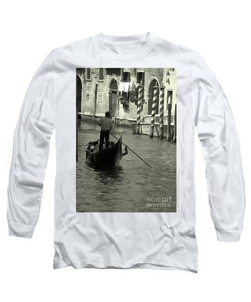 Gondolier In Venice   Long Sleeve T-Shirt