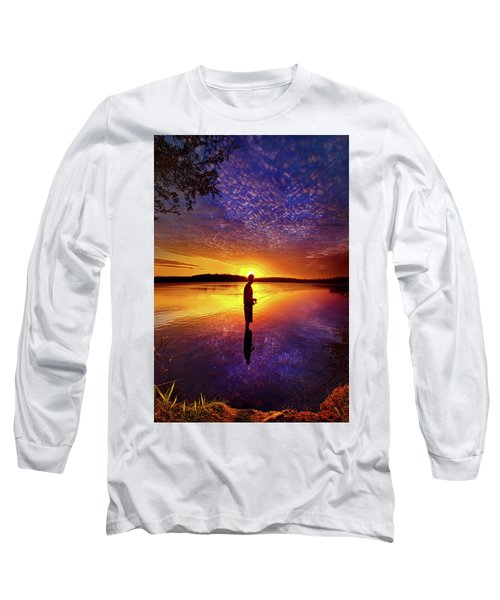 Long Sleeve T-Shirt featuring the photograph Gone Fishing by Phil Koch