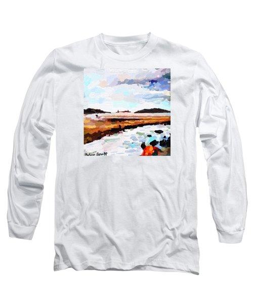 Good Harbor Beach, Salt Island, And Thatcher's Island Long Sleeve T-Shirt