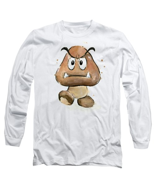 Goomba Watercolor Long Sleeve T-Shirt